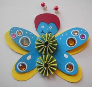 e-Schmetterling blaugelb