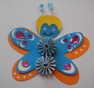 e-Schmetterling blauorange