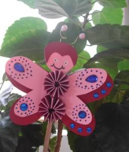 e-Schmetterling rosa