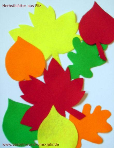 Herbstblätter Aus Filz Basteln Rund Ums Jahr