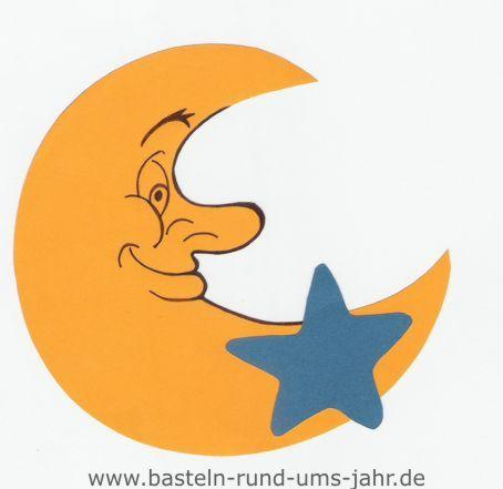Mond Mit Stern Aus Moosgummi Oder Tonpapier Basteln Rund Ums Jahr