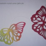 Schmetterling Scherenschnitt