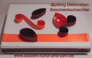 Quilling-Dekoration-Geschenkschachtel