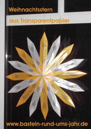 Weihnachtsstern Aus Transparentpapier Basteln Rund Ums Jahr