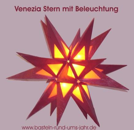 Venezia Stern Mit Beleuchtung Basteln Rund Ums Jahr