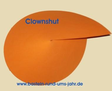 Clown Hut Aus Buntem Tonpapier Basteln Rund Ums Jahr