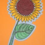 Blumenstecker-Holz-Sonnenblume