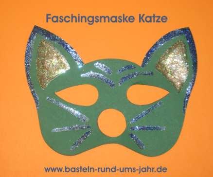 Faschingsmaske Katze Basteln Rund Ums Jahr