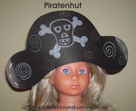 Piratenhut basteln