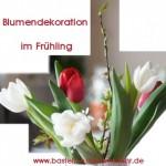 Blumendekoration im Frühling