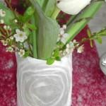 Blumendekoration Festtafel