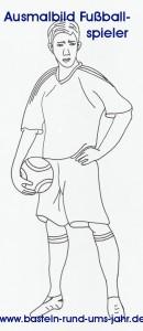 Ausmalbild Fußballspieler