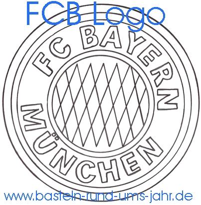 Ausmalbild FCB Logo