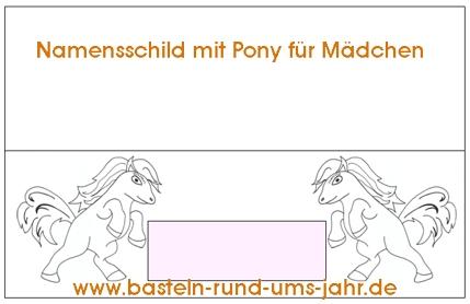 Namenschild Pony