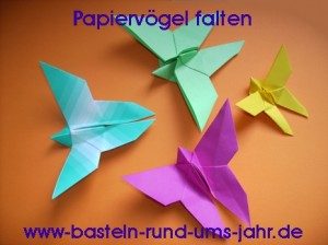 Papiervögel falten