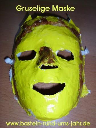 gruselige Maske zu Halloween oder Kindergeburtstag