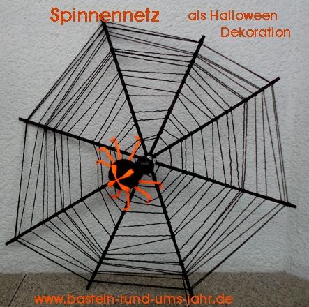 Spinnennetz Als Halloween Dekoration Basteln Rund Ums Jahr