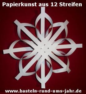 Papierkunst Stern