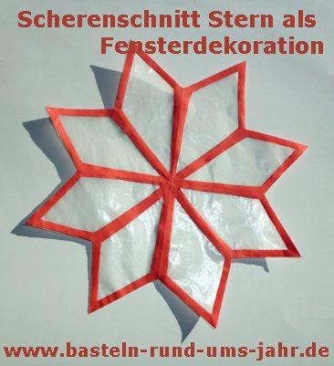Basteln rund ums jahr transparentstern aus for Scherenschnitt weihnachten