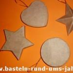 Christbaumschmuck Pappmaschee Rohling