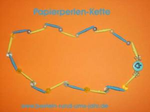 Papierperlenkette zum Kindergeburtstag basteln