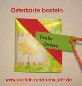 Originelle Osterkarte - schnell selbst gebastelt.