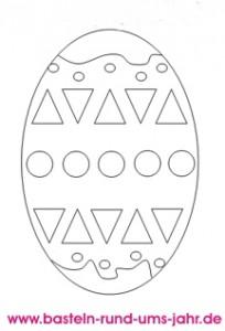 Ausmalbild Osterei 2