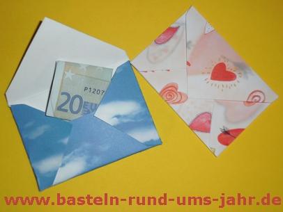 Geldumschlag aus Tonpapier