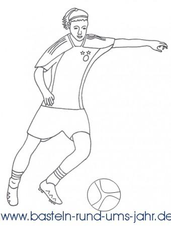 Ausmalbild Fussballspielerin