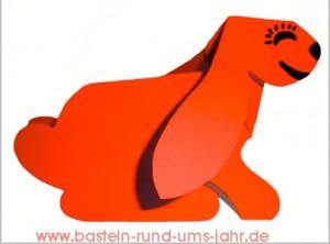 Hund aus Tonpapier falten