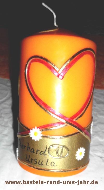 Kerze Zur Goldenen Hochzeit Mit Kindern Basteln Basteln Rund Ums Jahr