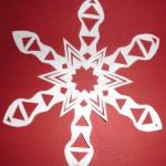 Scherenschnitt Weihnachten mit Stern
