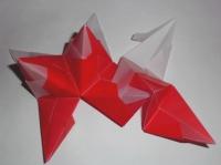 Bascetta Stern in weiß rot basteln