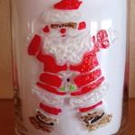 Weihnachtsmann auf Glas im Window Style