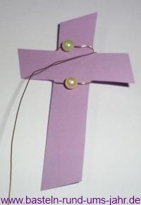 Kommunionkarte Kreuz