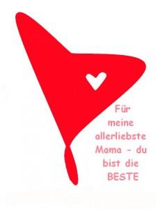 Herz zum Muttertag mit Spruch - kostenloser Download