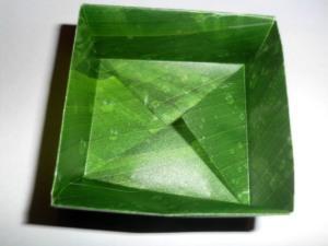 Geschenkschachtel aus Transparentpapier basteln