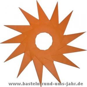 Sonnenstern aus Papier basteln -. eine super einfache Fensterdekoration