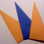 Sonnenstern Dreiecke verbinden verschiedene Farben