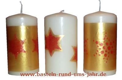 Kerze Weihnachten Candle Liner verzieren