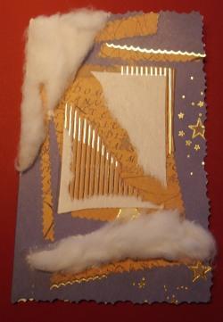 Weihnachtskarte verschönern