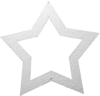 Stern mit Struktur in weiß und gold
