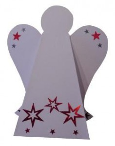Engel mit Stern aus Papier falten