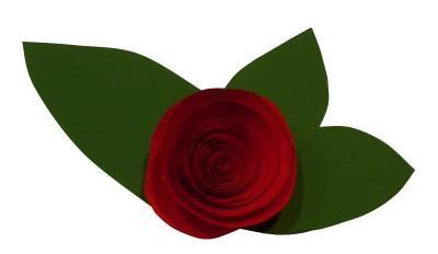 Rose zum Valentinstag falten