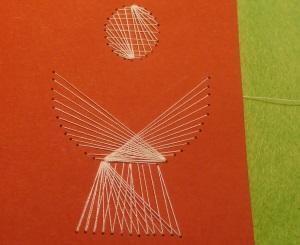 Stickvorlage und Zählvorlage Kelch mit Fadengrafik