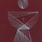 Kelch mit Fadengrafik sticken - das Motiv