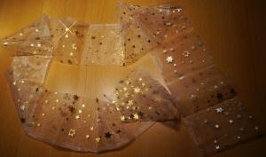 LED Lichterschlauch zuschneiden des Stoffes