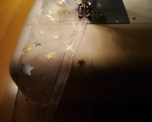 Lichterschlauch aus Organza nähen