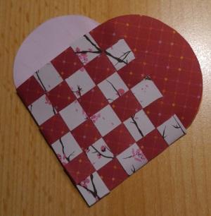 Herz Körbchen flechten 15