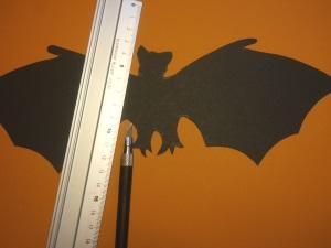 Bastelvorlage Fledermaus zu Halloween Anleitung